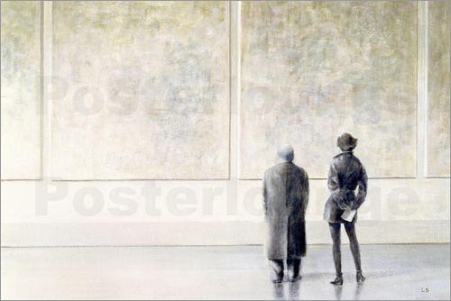 Lincoln Seligman - Man and Woman in an Art Gallery