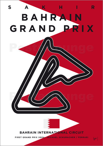 Poster My F1 BAHRAIN Race Track Minimal Poster