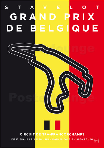 Poster My F1 FRANCORCHAMPS Race Track Minimal Poster