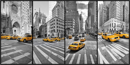 marcus klepper new york cab collage poster online bestellen posterlounge. Black Bedroom Furniture Sets. Home Design Ideas