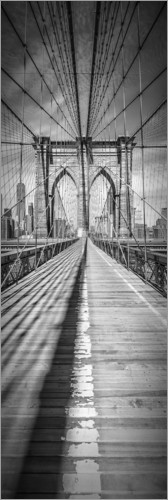 Poster NEW YORK CITY Brooklyn Bridge Panorama