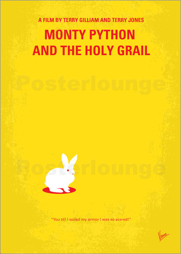 Poster No036 My Monty Pyton And The Holy Grail minimal movie poster