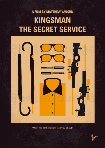 Poster No758 My Kingsman minimal movie poster