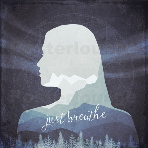 Poster Just breathe