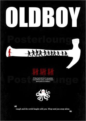 Poster Oldboy - Minimal Film Movie Fanart Alternative
