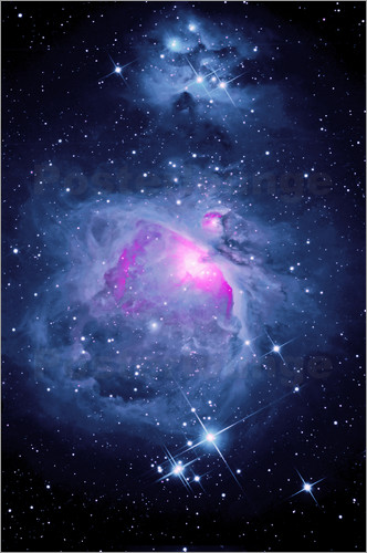 Poster Orion Nebel M 42 mit Running Man Nebel