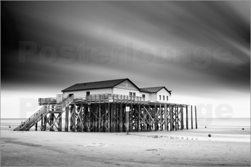 markus lange pfahlbauten sankt peter ording poster online bestellen posterlounge. Black Bedroom Furniture Sets. Home Design Ideas