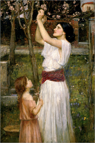 John William Waterhouse - Pflücken von Mandelblüte