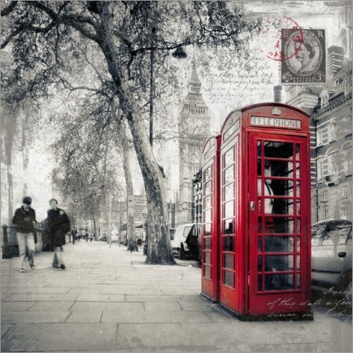 Poster Postkarte von London