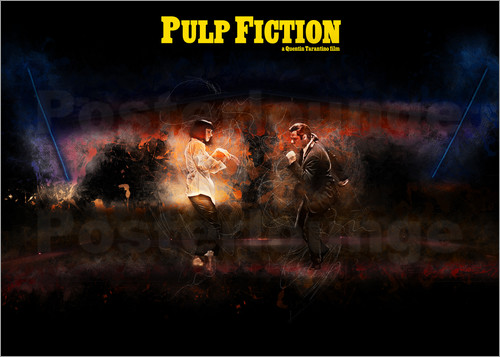 Poster Pulp Fiction - Fanart Minimal Tarantino Tanz Alternative
