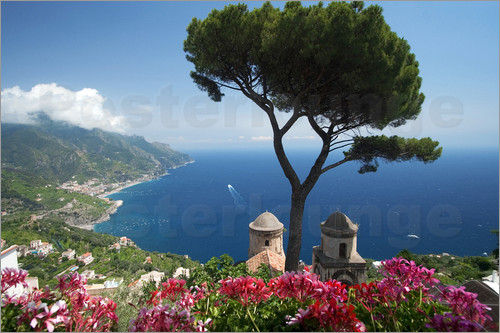 mayday74 ravello amalfik ste italien poster online bestellen posterlounge. Black Bedroom Furniture Sets. Home Design Ideas