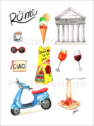Poster Rome Sightseeing