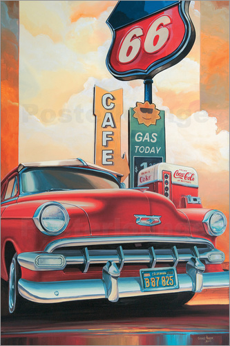 Poster Route 66 Cafe