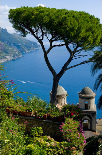 Charles Bowman - Rufolo view, Ravello, Amalfi Coast, UNESCO World Heritage Site, Campania, Italy, Europe
