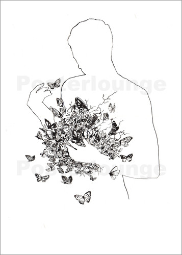Poster Butterflies in the stomach