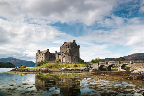 reiner w rz rwfotoart schottland eilean donan castle poster online bestellen posterlounge. Black Bedroom Furniture Sets. Home Design Ideas