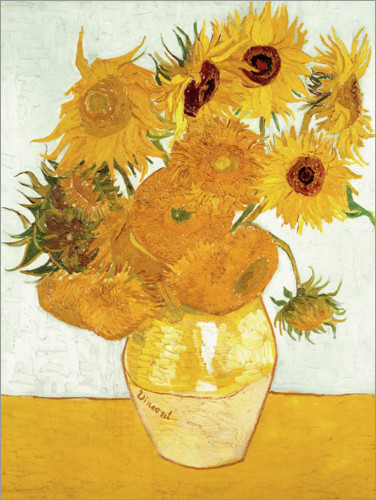 vincent van gogh sonnenblumen poster online bestellen posterlounge. Black Bedroom Furniture Sets. Home Design Ideas