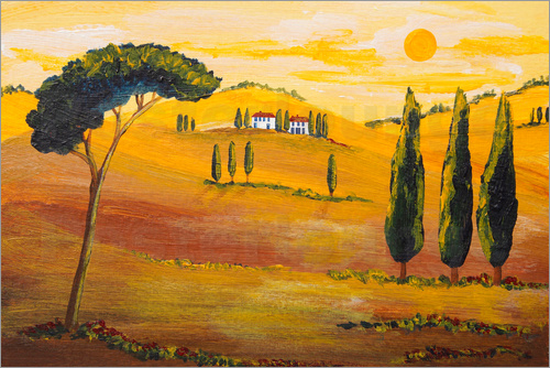 Christine Huwer - Sonnenschein am Morgen in der Toskana / Sunshine  in Tuscany in the Morning