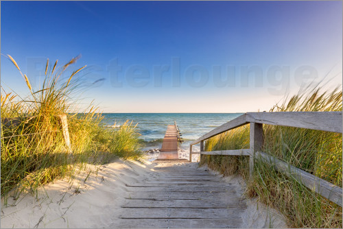 dennis stracke steg ins meer ostsee poster online bestellen posterlounge. Black Bedroom Furniture Sets. Home Design Ideas