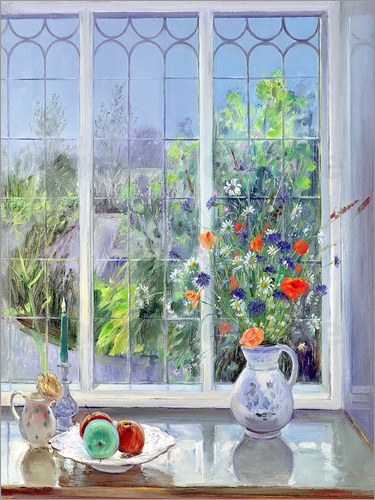 timothy easton stillleben im fenster poster online bestellen posterlounge. Black Bedroom Furniture Sets. Home Design Ideas