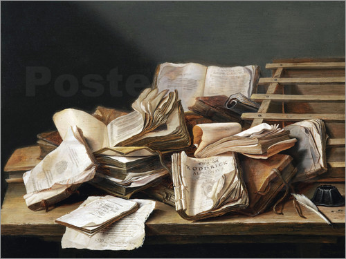 Poster Still Life with Books