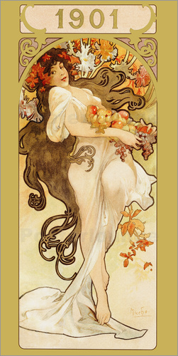 Alfons Mucha - Summer - Gold