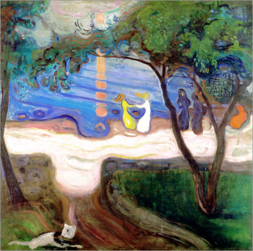 Edvard Munch - Tanz am Meeresstrand