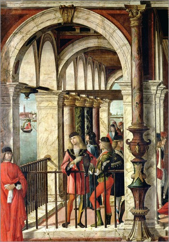 Vittore Carpaccio - The Arrival of the English Ambassadors, detail, from the St. Ursula cycle, 1498