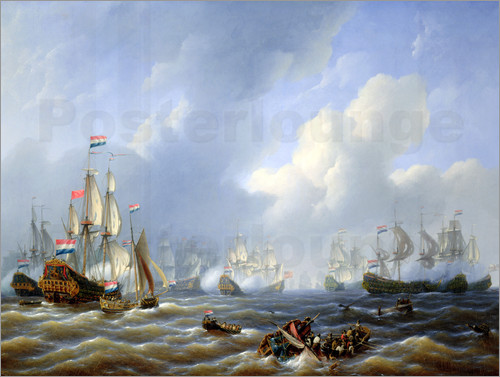 Petrus Johann Schotel - The Battle of Camperdown on 11th October 1797