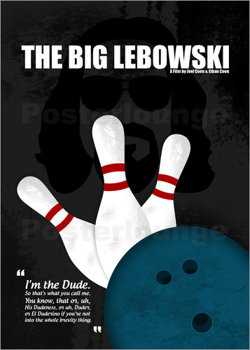 Poster The Big Lebowski - Minimal Movie Film Kult Alternative