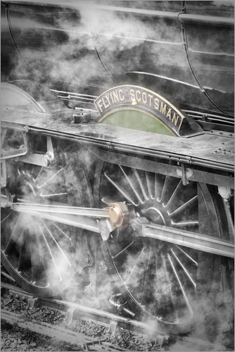 John Potter - The Flying Scotsman steam locomotive arriving at Goathland station on the North Yorkshire Moors Rail
