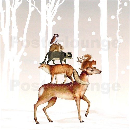 Poster Forest animals