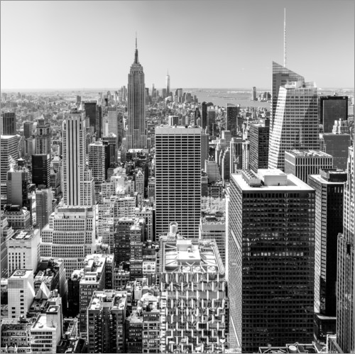 sascha kilmer top of the rock new york city schwarz wei poster online bestellen posterlounge. Black Bedroom Furniture Sets. Home Design Ideas