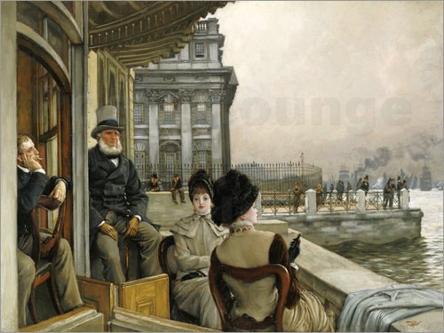James  Tissot - Trafalgar Tavern, Greenwich