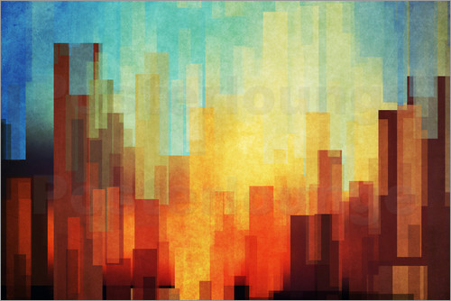 Poster Urban Sunset