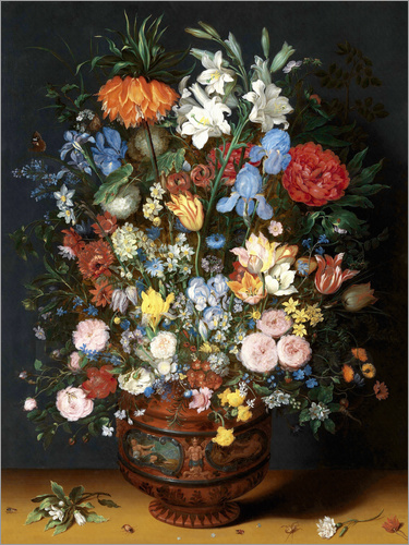 jan brueghel d vase mit blumen poster online bestellen. Black Bedroom Furniture Sets. Home Design Ideas