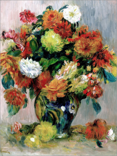 pierre auguste renoir vase mit blumen poster online. Black Bedroom Furniture Sets. Home Design Ideas