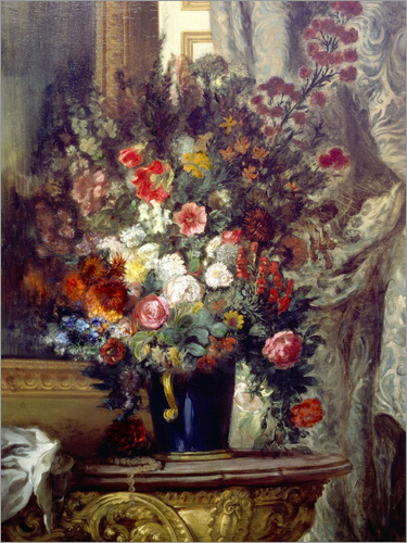 eugene delacroix vase mit blumen auf einer konsole poster online bestellen posterlounge. Black Bedroom Furniture Sets. Home Design Ideas