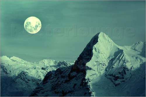 Gerhard Albicker - Vollmond am Eiger