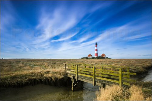 dennis stracke westerhever leuchtturm sankt peter ording poster online bestellen posterlounge. Black Bedroom Furniture Sets. Home Design Ideas
