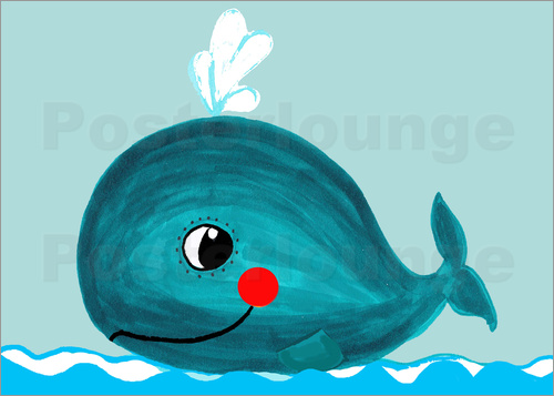 Poster Willow, the friendly whale
