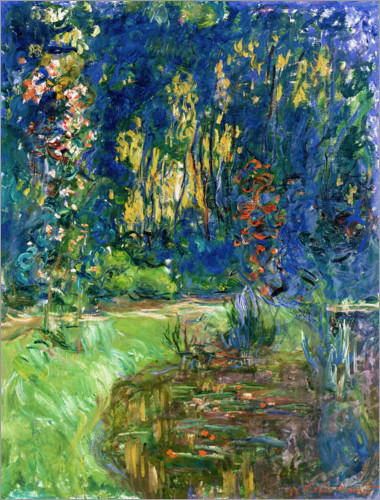 Claude Monet - Winkel am Teich von Giverny