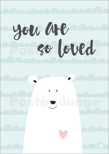 you are so loved mint poster online bestellen posterlounge