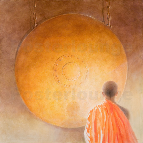 Lincoln Seligman - Young Buddhist Monk and Gong