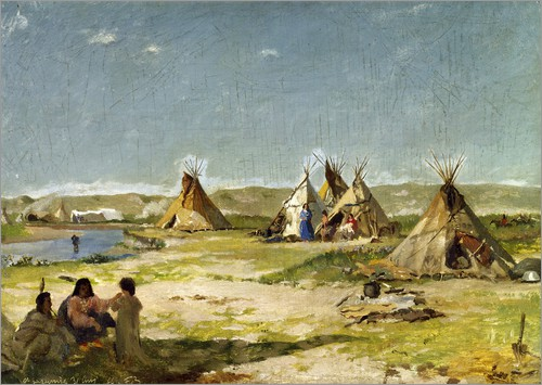Poster Camp of the Indians in Wyoming