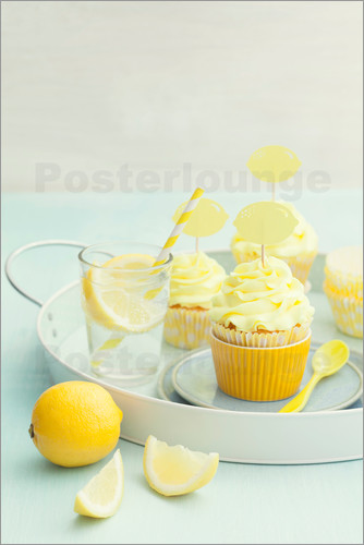 elisabeth c lfen zitronen cupcakes poster online bestellen posterlounge. Black Bedroom Furniture Sets. Home Design Ideas