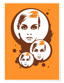 Premium-Poster  Twiggy Mathmos Orange - JASMIN!