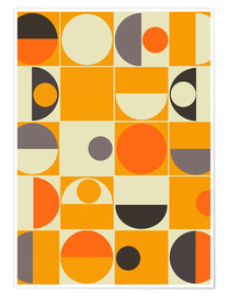 Premium-Poster  panton orange - MiaMia