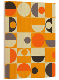 Holzbild  panton orange - Mandy Reinmuth