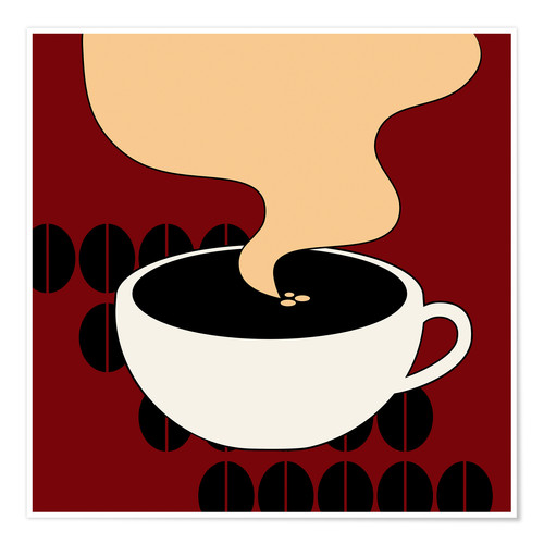 Premium-Poster Hot Coffee